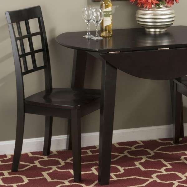 Simplicity Casual Espresso Grid Back Side Chairs JFN-552-939KD