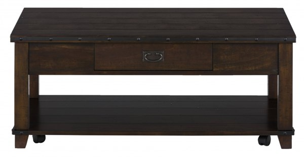 Cassidy Transitional Plank Top Cocktail w/Drawer JFN-561-1