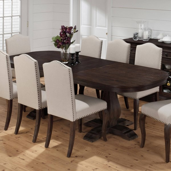 Grand Transitional Terrace Wood Dining Table w/Butterfly Leaf JFN-634-102