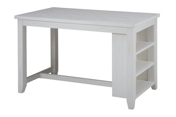 Madaket Casual White Solid Wood Counter Height Dining Table JFN-647-60