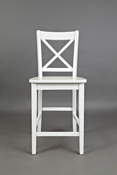 2 Jofran Furniture Simplicity Paper White Cross Back Stools JFN-652-BS806KD