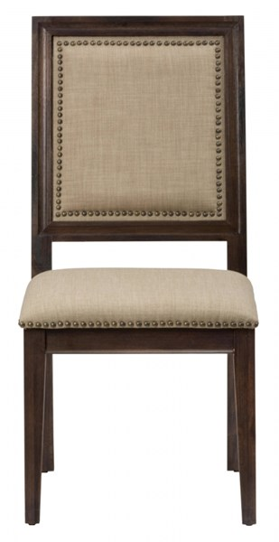 2 Geneva Hills Traditional Brown Side Chairs w/Upholstered Back JFN-678-423KD