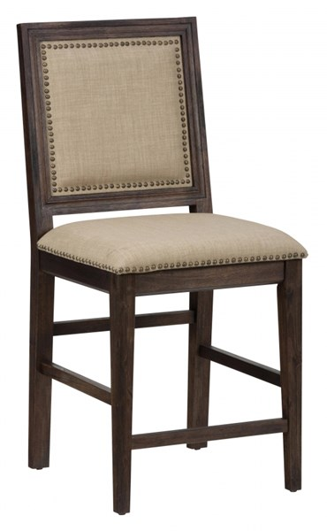 2 Geneva Hills Traditional Brown Counter Height Stools JFN-678-BS423KD