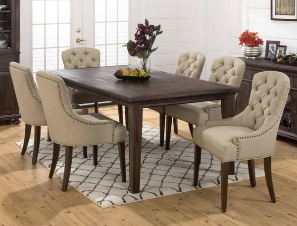 Geneva Hills Traditional Brown 7pc Rectangle Dining Room Set JFN-678-78-212Kd-DR-S