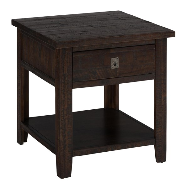 Jofran Furniture Kona Grove Deep Chocolate Square End Table JFN-704-3