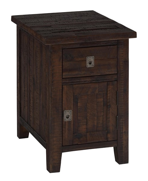Kona Grove Casual Chocolate Wood Cabinet Drawer Chairside Table JFN-704-6