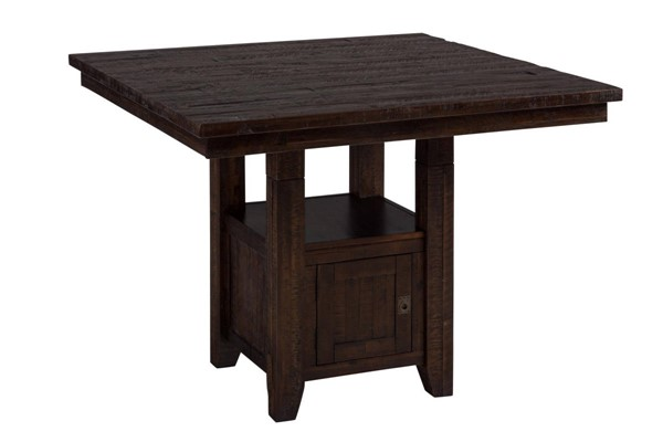 Kona Grove Casual Chocolate Wood Counter Height Fixed Dining Table JFN-705-48