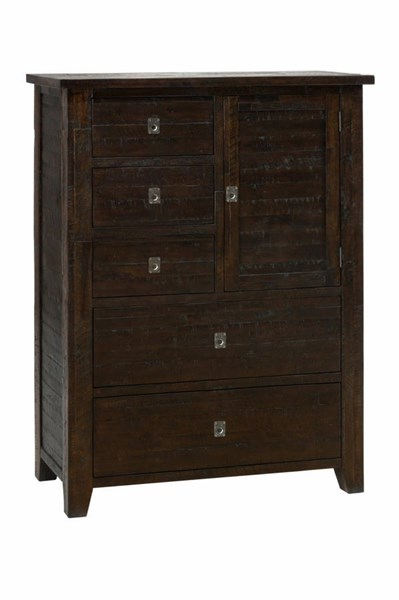Kona Grove Chocolate Solid Wood 5 Drawers Assembled Chest JFN-707-31