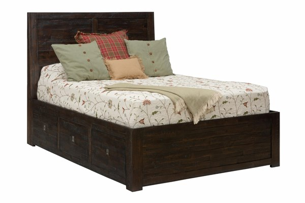 Kona Grove Casual Chocolate Solid Wood Drawer Storage Beds JFN-707-BED-VAR