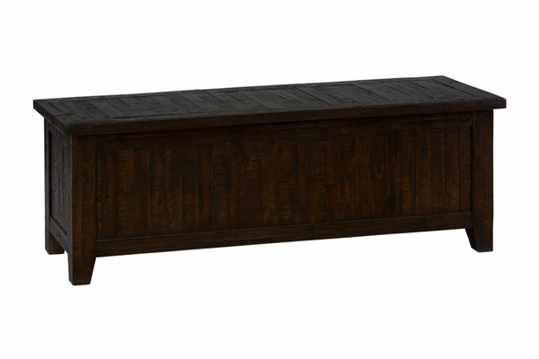 Kona Grove Casual Chocolate Solid Wood Blanket Chest JFN-707-99