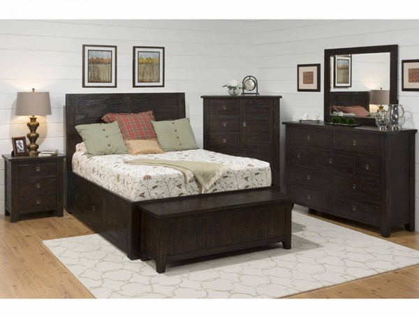 Kona Grove Casual Chocolate Wood 2pc Bedroom Set W/Queen Storage Bed JFN-707-BR-S1