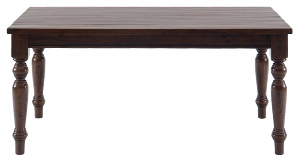 Jofran Urban Lodge Brown Rustic Hewn Rectangle Fixed Top Table JFN-733-66