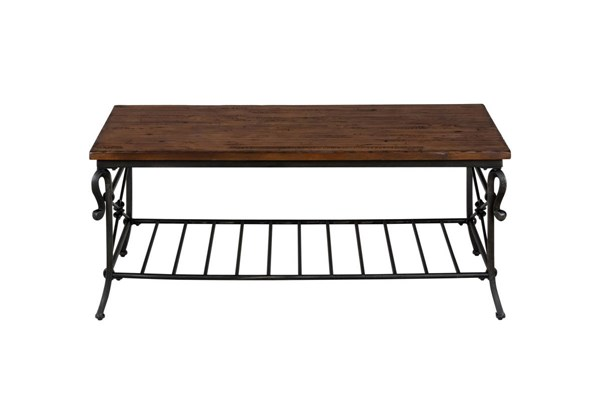 Rutledge Traditional Pine Wood Cocktail Table JFN-772-1