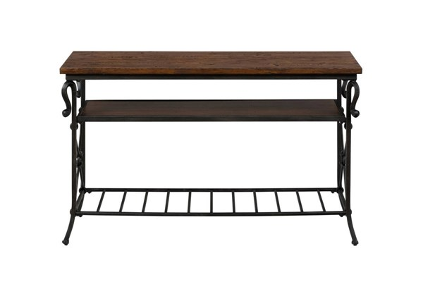 Rutledge Transitional Sofa / Media Table w/Wooden Shelf JFN-772-4