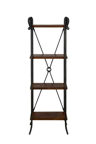 Rutledge Transitional Pine Wood Etagere w/4 Wooden Shelves JFN-772-8