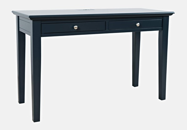 Jofran Furniture Craftsman Navy Blue 2 Drawer USB Charging Desk JFN-775-4820