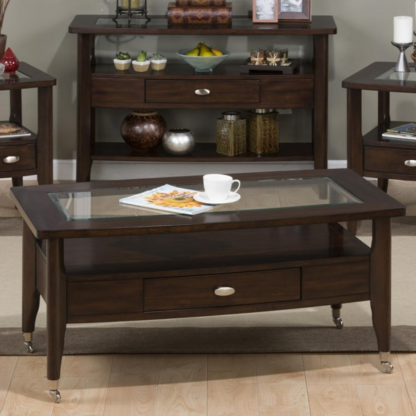 Jofran Furniture Montego Rectangle Cocktail Table JFN-827-1
