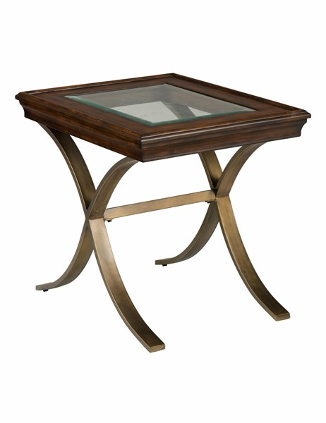 Ashland Contemporary Milk Chocolate Solid Wood Metal End Table JFN-834-3