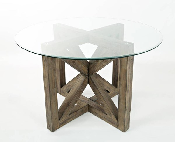 Hampton Road Coastal Solid Wood Round Dining Table JFN-872-48BG48RDKT