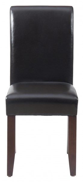 2 Carlsbad Contemporary Cherry Wood Bonded Leather Side Chairs JFN-888-480KD