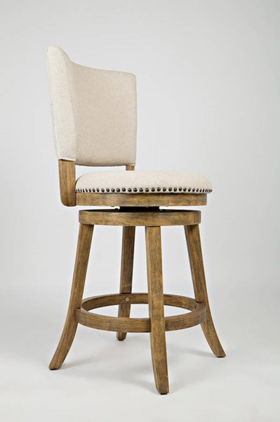 2 Turners Landing Tobacco Solid Wood Upholstered Back Swivel Stools JFN-916-BSS333KD