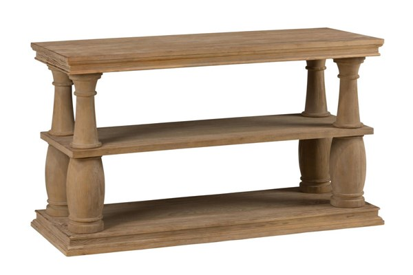 Big Sur Solid Wood Pine Sofa Table w/2 Shelves JFN-919-4