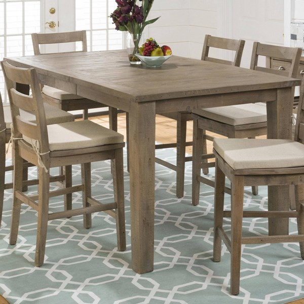 Slater Mill Transitional Brown Reclaimed Pine Counter Height Table JFN-941-42