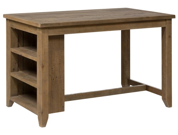 Jofran Furniture Slater Mill Light Brown 3 Shelf Storage Counter Height Table JFN-941-60