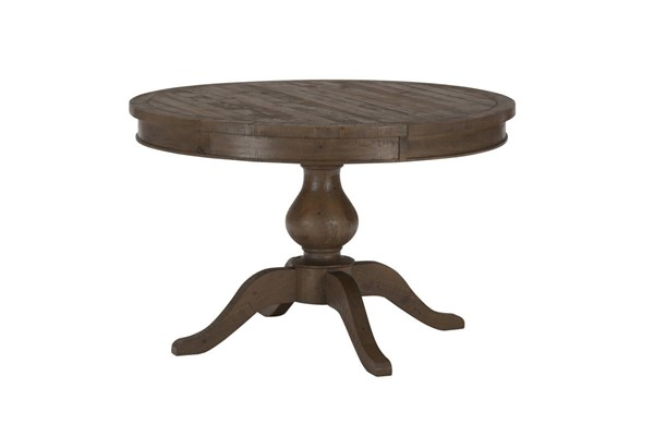 Jofran Furniture Slater Mill Brown Round to Oval Dining Table JFN-941-66TBKT