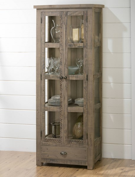 Slater Mill Transitional Brown Display Cupboard w/Doors JFN-941-91