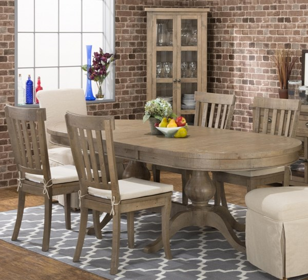 Slater Mill Transitional Pine Wood Dining Room Set JFN-941-96-831KD-162KD-DR