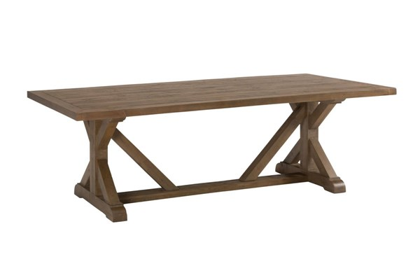 Slater Mill Transitional Solid Wood Fixed Trestle Dining Table JFN-941-97