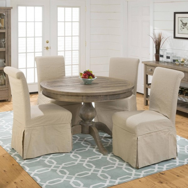 Slater Mill Cottage Brown Wood Dining Room Set JFN-941-66-162kd-DR