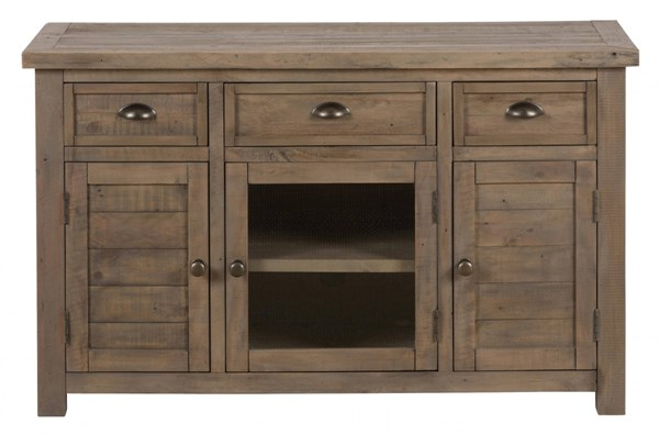 Slater Mill Transitional Pine 50 Inches Reclaimed Media Unit w/Drawers JFN-942-50