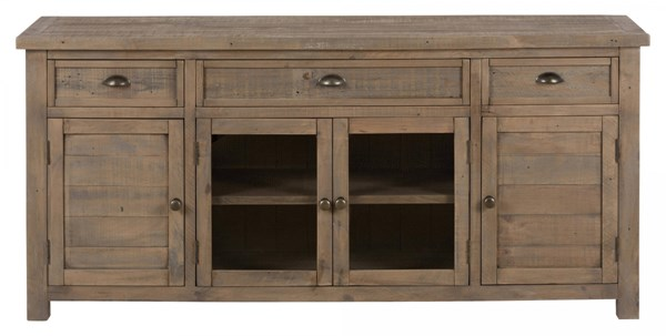Slater Mill Transitional 70 Inch Reclaimed Pine Media Unit w/3 Drawers JFN-942-70