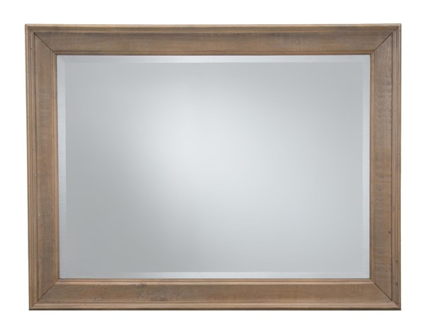 Slater Mill Transitional Brown Wood Glass Landscape Mirror JFN-943-20