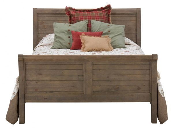 Slater Mill Transitional Pine Wood Queen Sleigh Headboard JFN-943-85