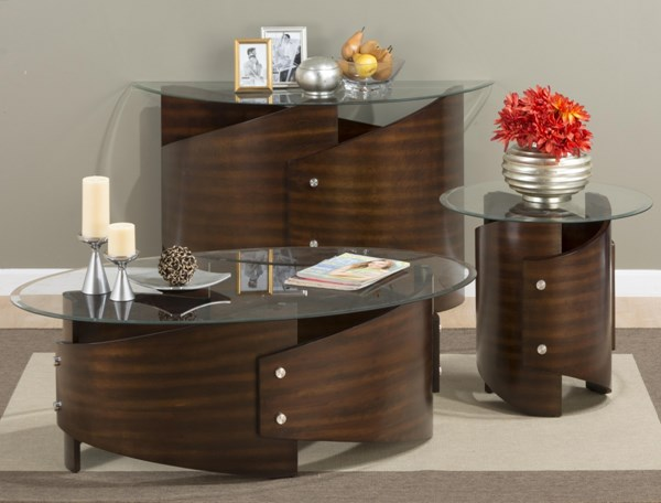 Waterville Contemporary Walnut Coffee Table Set JFN-956-OCT