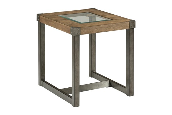 Freemont Transitional Metal Wood Squared Legs End Table JFN-965-3