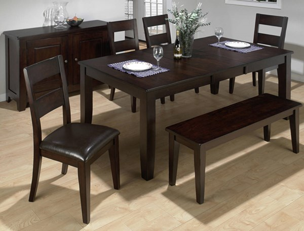 Prairie Dark Rustic Conventional Height Butterfly Leaf Dining Table JFN-972-77