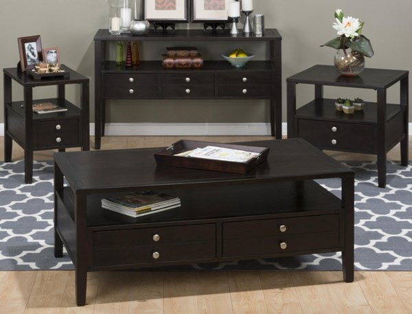 Hamilton Contemporary Espresso 3pc Coffee Table Set JFN-975-OCT-S