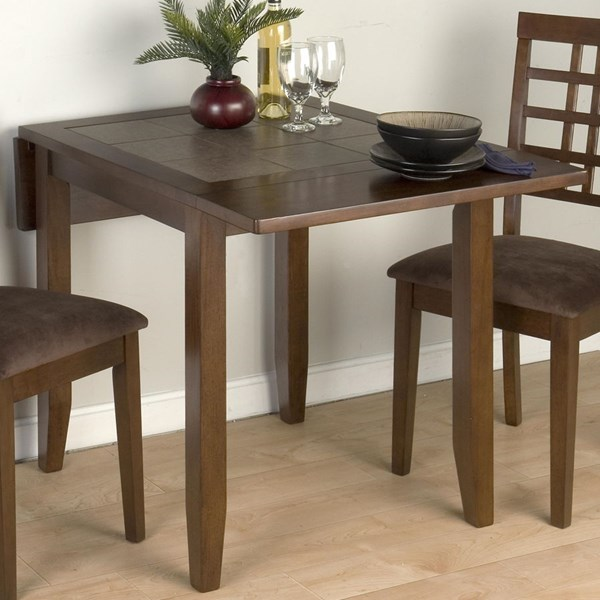 Caleb Brown Contemporary Wood Counter Height Double Drop Leaf Table JFN-976-30