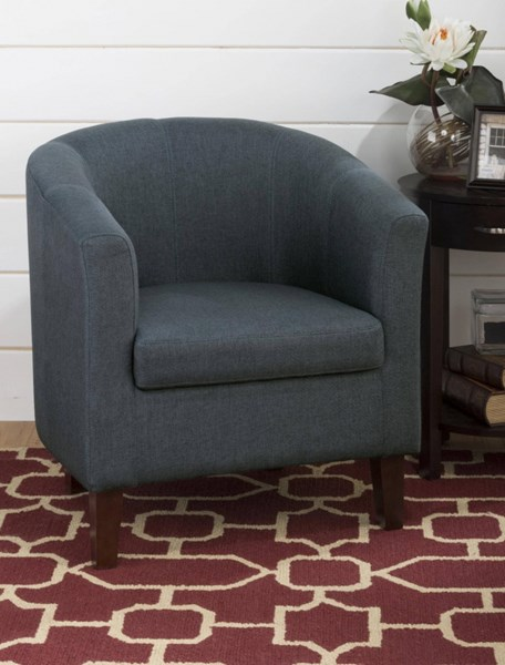 Chelsea Casual Club Chair w/Webbed Seat & Cobalt Blue Toned Fabric JFN-CHELSEA-CH-COB