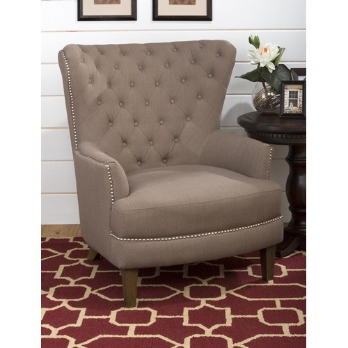 Conner Traditional Oversized Wing Back Accent Chair w/Earth Fabric JFN-CONNER-CH-EARTH
