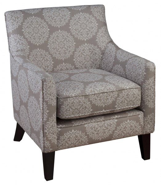 Gabby Transitional Pearl Grey Fabric Accent Chair The