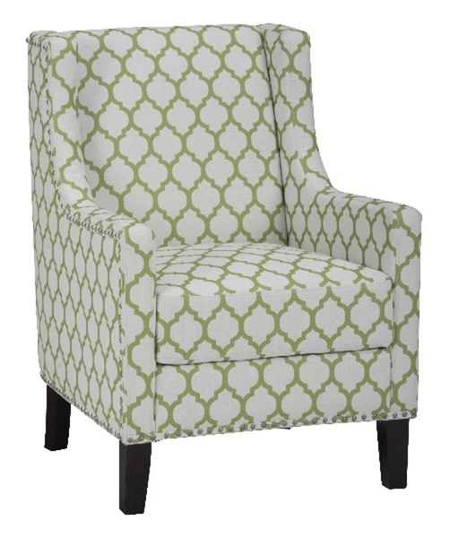 Jeanie Contemporary Wood Avacado Polyester Accent Chair JFN-JEANIE-CH-AVCD