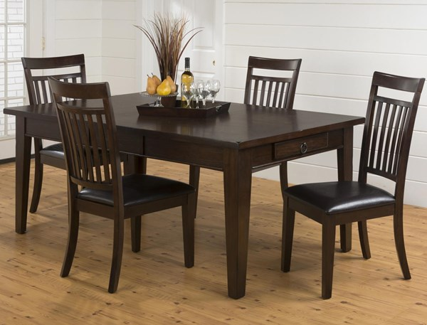 Legacy Casual Oak Wood 5pc Dining Room Set JFN-981-78-DR-S1