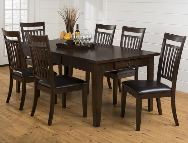 Legacy Casual Oak Wood Storage Dining Room Set JFN-981-78-DR-S