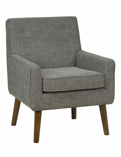Mila Contemporary Charcoal Wood Fabric Button Tufting Accent Chair JFN-MILA-CH-CHARCOAL
