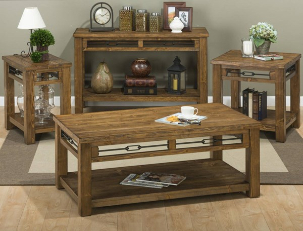 San Marcos Transitional Solid Wood Coffee Table Set JFN-463-OCT
